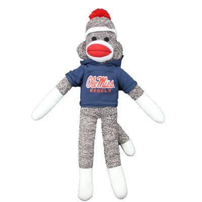 OLE MISS REBELS 20IN SOCK MONKEY