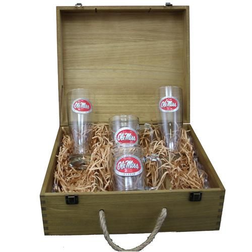 Red Pewter Boxed Beer Set