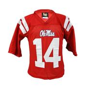 LITTLE KING #14 FOOTBALL JERSEY RED