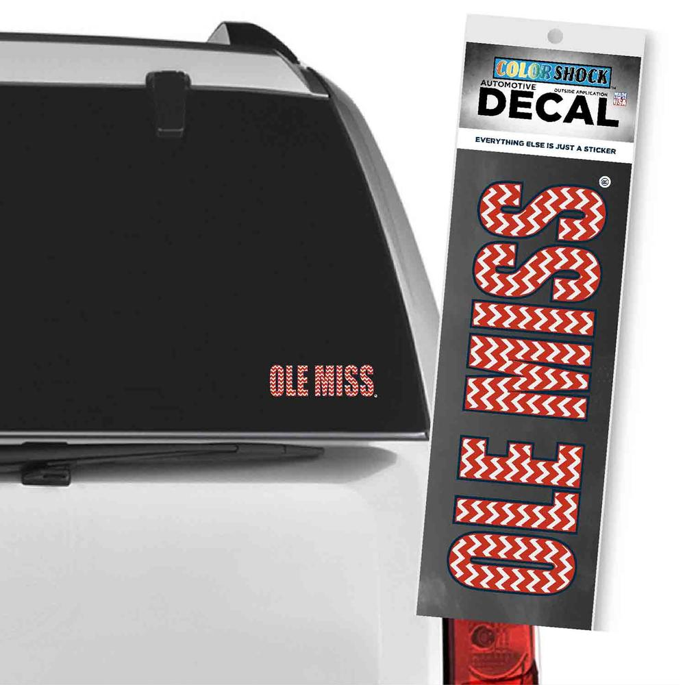 Chevron Ole Miss Decal