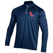 OLE MISS QUARTER ZIP TECH TEE