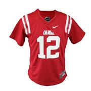 KIDS NO 12 OLE MISS JERSEY RED