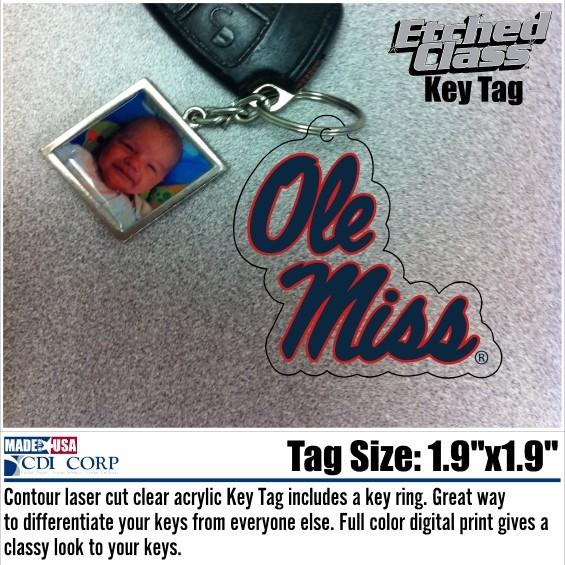 Stacked Ole Miss Key Tag