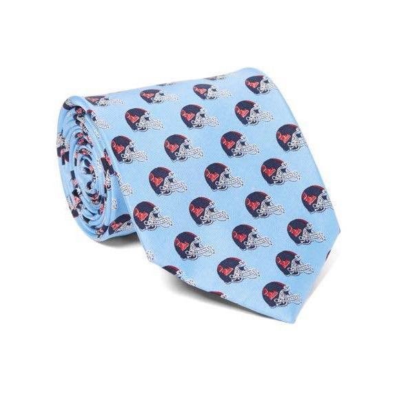 Silk Printed Helmet Logo Tie