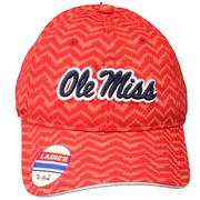 RED DIGI PATTERN OLE MISS CAP