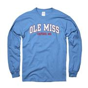 LS ARCHED OLE MISS OXFORD TEE