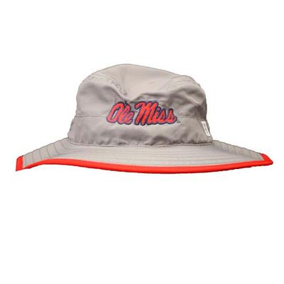 Gray Boonie Hat With Red Trim