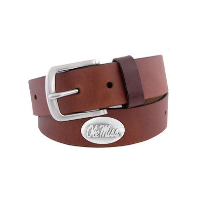OLE MISS KIDS CONCHO LEATHER BELT