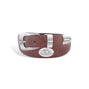 OLE MISS BRAIDED LEAHTER BELT