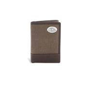 CANVAS LEATHER TRI-FOLD WALLET