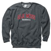 OLE MISS BASEBALL CREW SWEATSHIRT