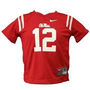 TODDLER NO 12 OLE MISS JERSEY RED