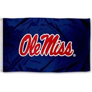 3'X5' NAVY NYLOMAX OLE MISS FLAG