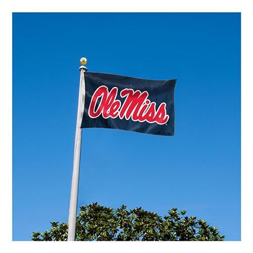 Navy Ole Miss Onesided Flag