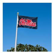 NAVY OLE MISS ONESIDED FLAG