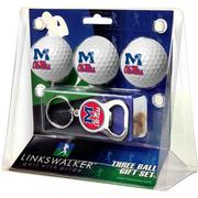3 BALL GIFT PACK KEYCHAIN BOTTLE OPENER
