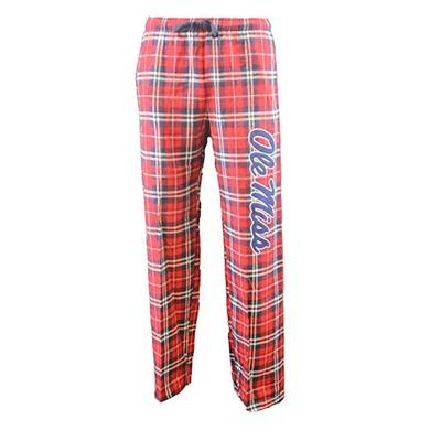 Navy Red Flannel Pant