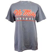 OLE MISS SCRIPT BAR FB SS TEE