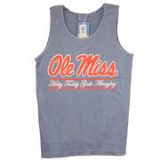 OLE MISS SCRIPT BAR TANK TOP