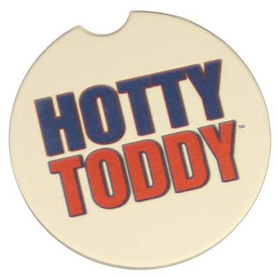 HOTTY TODDY WHITE CAR COASTER