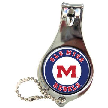 Ole Miss Keychain Nailclipper