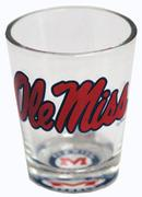 OLE MISS BULLSEYE BOTTOM SHOT GLASS