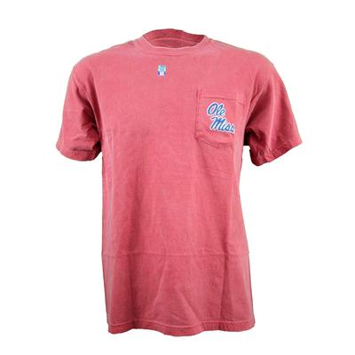 Ss Stacked Om Pocket Tee
