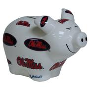 CERAMIC OLE MISS M PIGGY BANK