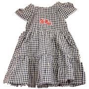 BRIGITTE GINGHAM INFANT DRESS NAVY