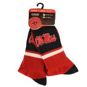 OLE MISS DUSTER SPORT SOCK RED