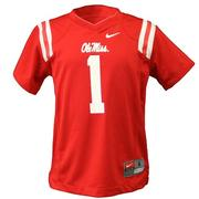 KIDS NO 1 FOOTBALL JERSEY RED