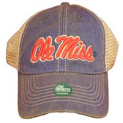 BLUE OLE MISS TRUCKER CAP