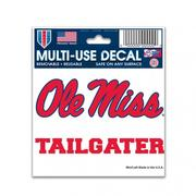 3X4 OLE MISS TAILGATER DECAL