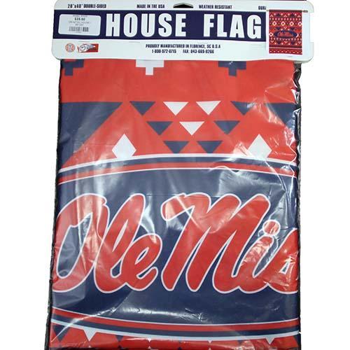 Om Aztec House Flag