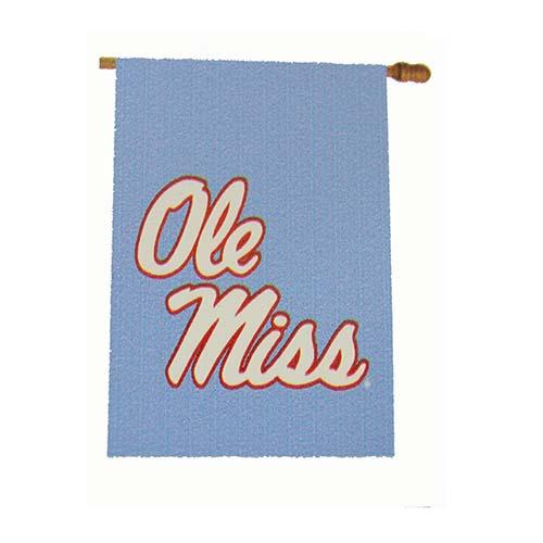 Stacked Ole Miss Garden Flag