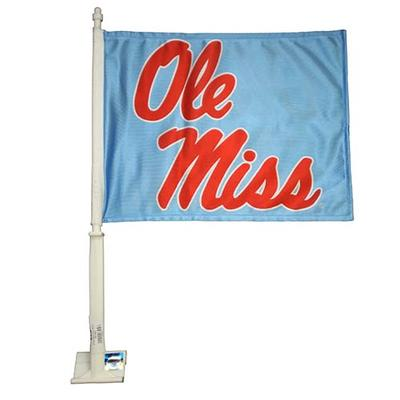 STACKED OLE MISS CAR FLAG