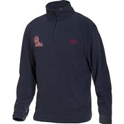 OLE MISS DRAKE CAMP FLEECE PULLOVER NAVY