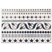 NAVY AND SILVER FLASH TATTOOS