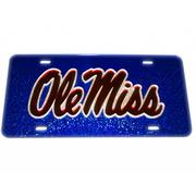 BLUE TAG WITH SILVER RED OLE MISS