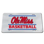 OLE MISS BASKETBALL BAR DESIGN LICENSE PLATE
