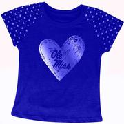 SS INFANT HEARTBEAT OM TEE NAVY