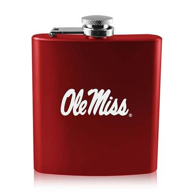 RED 6 OZ OLD FASHIONED FLASK RED