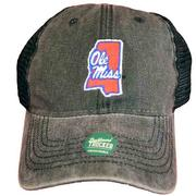 BLACK OLE MISS TRUCKER CAP