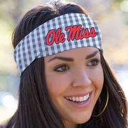 GINGHAM BANDEAU HEADBAND
