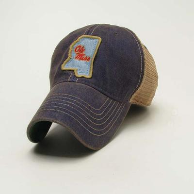 BLUE TRUCKER OLE MISS CAP