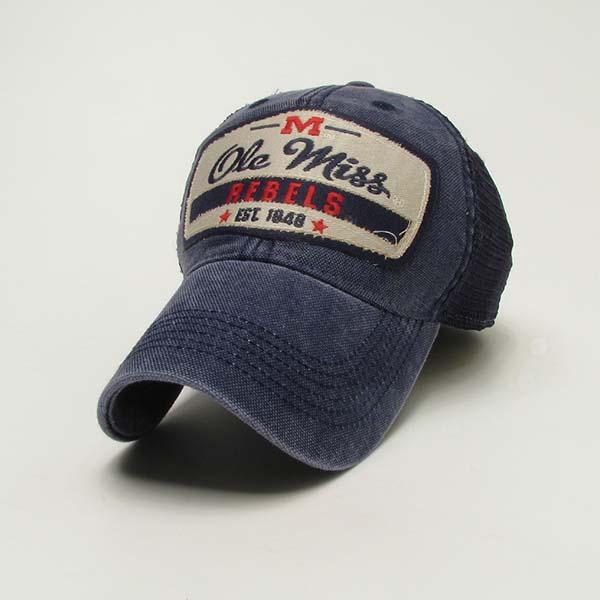 Navy Om Rebels Trucker Cap