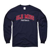 LS ARCHED OM FOOTBALL TEE NAVY