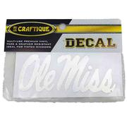 4IN SIL OLE MISS DECAL
