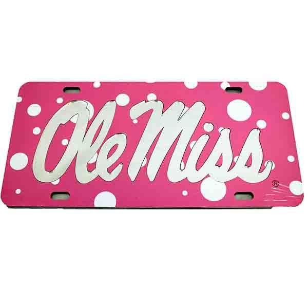 Pink Polka Dot Ole Miss Tag
