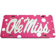 PINK POLKA DOT OLE MISS TAG